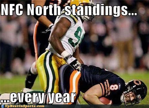 funny sports pictures nfc north standings every year 2010 green bay packers still control their own playoff destiny,Packers Win Meme