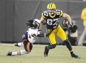 Green Bay Packer Jordy Nelson against the Chicago Bears