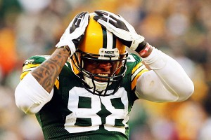 Jermichael Finley - Packers vs. Giants playoffs.