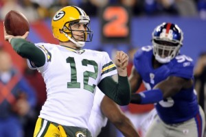 Aaron Rodgers and the Packers will take on the New York Giants next Sunday at Lambeau Field.