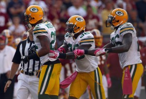 Green Bay Packers defensive backs, Charles Woodson, Nick Collins, Charlie Peprah