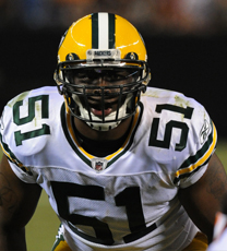 Green Bay Packers linebacker D.J. Smith