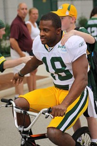 Randall Cobb at Packers training camp