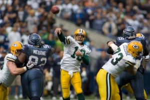 Packers Aaron Rodgers vs. Seattle Seahawks