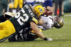 Clay Matthews vs Saints