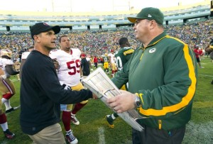 Packers vs. 49ers: McCarthy - Harbaugh shake hands