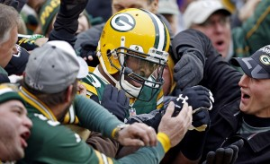 James Jones Celebrates TD against the Vikings.