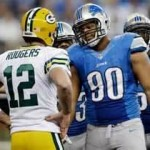 Aaron Rodgers and Ndomukong Suh