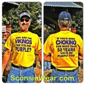 Why Vikings wear purple