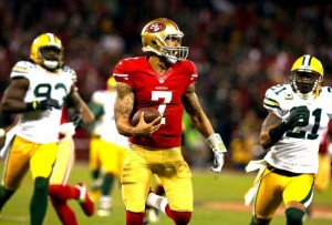 Colin Kaepernick 49ers Packers