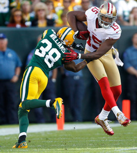 Packers CB Tramon Williams faces a tough task against 49ers WR Michael Crabtree