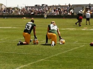 Clay Matthews and Nick Perry
