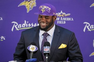 Vikings first-round draft pick Shariff Floyd.