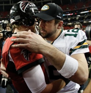 Aaron Rodgers and Matt Ryan will square off at Lambeau Field this season. But how many times?