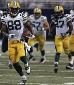 Jermichael Finley enjoyed a big day against the Rams, due, in part, to Eddie Lacy.