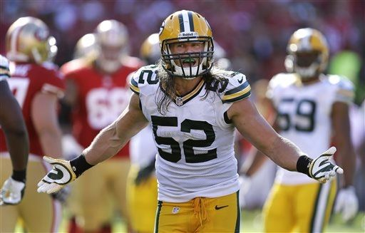 Clay Matthews made a mistake and was penalized 15 yards. Jim Harbaugh opened his mouth and sounded like an idiot.