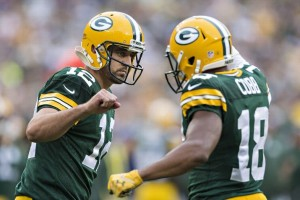 Randall Cobb helped Aaron Rodgers tie Matt Flynn's franchise record of 480 passing yards.