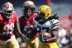 Eddie Lacy has been a shot of life to the Packers' ground game, but he's not much of a smack talker. He's just a guy who likes football. And cartoons.