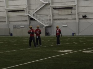 Packers quarterback Aaron Rodgers practiced Nov. 26. / Photo by Wes Hodkiewicz via Twitter