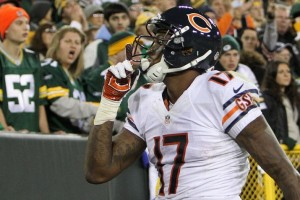 Bears receiver Alshon Jeffery has developed into one of the league's top big targets in his second season.