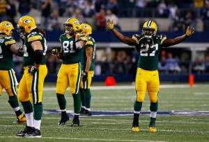Andrew Quarless (81) and Eddie Lacy (27) turned in big games for the Packers against the Dallas Cowboys, and in the process, may have saved Green Bay's season.