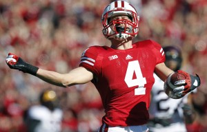 Jared Abbrederis was taken in the fifth round by the Packers. He is second all-time at Wisconsin with 3,140 career receiving yards.