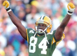 Sterling Sharpe finished his seven-year NFL career with 595 receptions, 8,134 yards and 65 touchdowns.