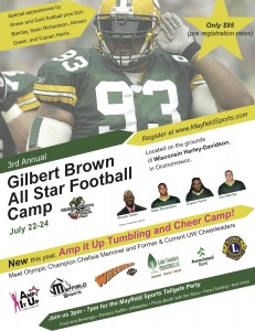 Gilbert Brown Youth Football Camp