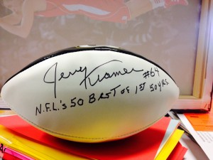 Jerry Kramer Autographed Football