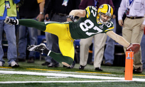 Jordy Nelson picked a pretty good time to break out. He caught nine passes for 140 yards and a touchdown in a Super Bowl XLV win.
